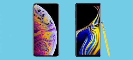 Qual é mais resistente? iPhone XS Max e Galaxy Note 9 se enfrentam em teste de queda