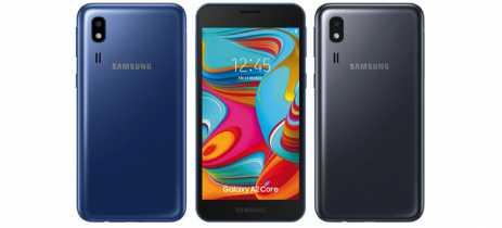 Galaxy A2 Core é o novo smartphone baratinho da Samsung com Android Go