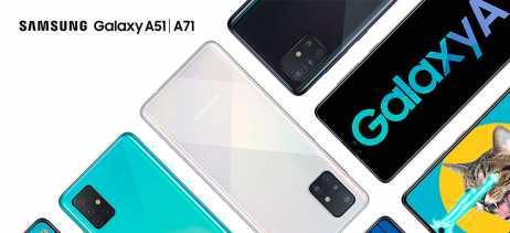 Samsung apresenta Galaxy A71 e A51 no Brasil como novas opções para o segmento intermediário