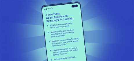 Samsung irá trazer Spotify pré-instalado em toda a linha de smartphones Galaxy