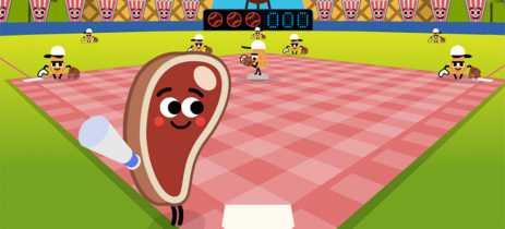 Jogue beisebol com lanches no Doodle comemorativo de 4 de julho da Google