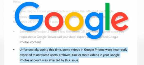 Google Fotos fez o download de vídeos para contas erradas