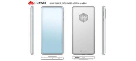 Celular da Huawei com câmera frontal embaixo da tela tem render vazado