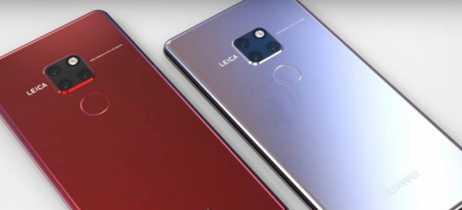 Vazam imagens do Huawei Mate 20 Pro mostrando as três câmeras traseiras e o leitor digital