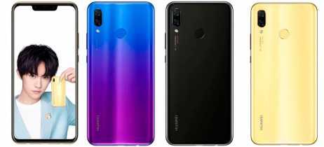 Huawei lista smartphone intermediário Nova 3 em sua loja oficial