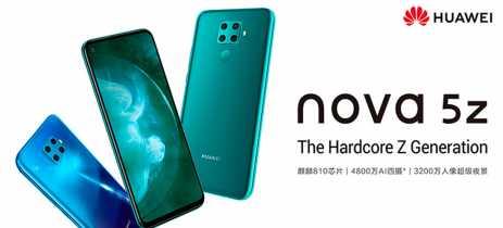 Huawei nova 5z é oficializado com Kirin 810 e quatro câmeras traseiras