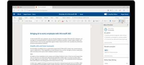 Microsoft Word Online anuncia Ideas! Ferramenta com IA para ajudar na produção de textos