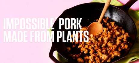 Conheça Impossible Pork, a carne de porco feita com base de plantas