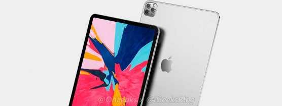 Novas imagens vazadas mostram iPad Pro 2020 com câmera tripla