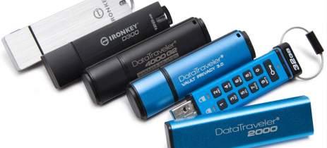 Kingston expande capacidade de pendrives criptografados para 128GB