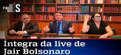 Bolsonaro associa vacinas com o vírus da AIDS e Facebook derruba live por fake news