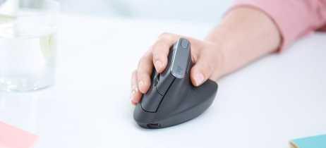 Novo mouse sem fio da Logitech traz design vertical