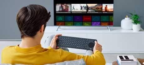 Logitech lança K600, teclado com touchpad feito para smart TVs