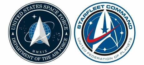 Logo oficial da US Space Force é muito parecida com a de Star Trek