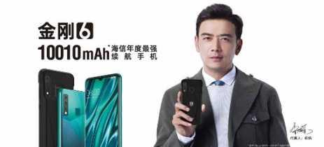 Hisense apresenta KingKong 6, smartphone com bateria gigante de 10010mAh