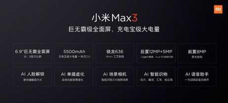 Xiaomi revela especificações oficiais do phablet Mi Max 3