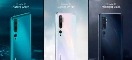 Xiaomi Mi Note 10 e Note 10 Pro são lançados com 5 câmeras, principal de 108MP