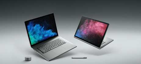 Microsoft lança novo modelo Surface Book 2 com processador i5 quad-core de 8ª geração da Intel