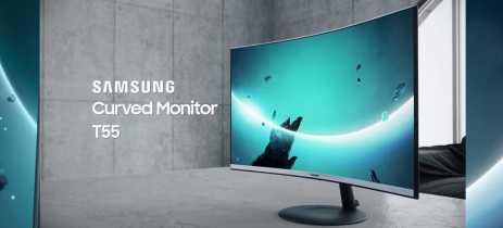 Samsung anuncia sua linha T55 de monitores curvos para escritório