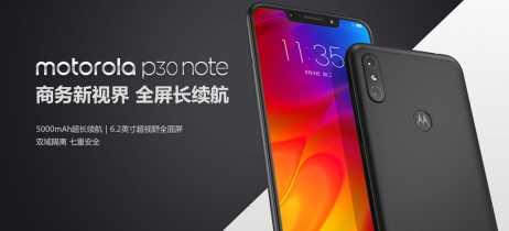 Motorola apresenta o P30 Note, com bateria de 5.000mAh e notch na tela