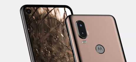 Motorola P40, sucessor do Motorola One, aparece com câmera na tela, estilo Infinity-O