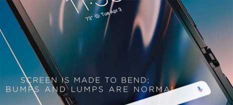 Imperfeições na tela dobrável do Moto Razr são normais, diz Motorola