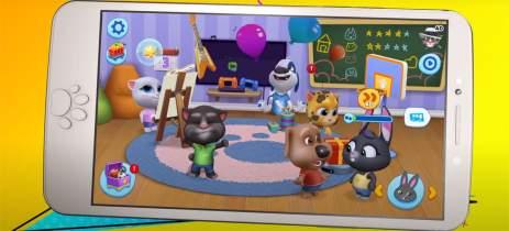 Estúdio Outfit7 junta todos os seus personagens no novo game My Talking Friends