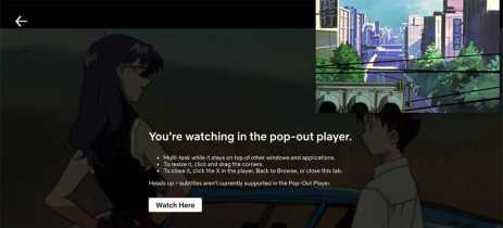 Netflix testa reprodutor de vídeos flutuante em navegadores para desktop