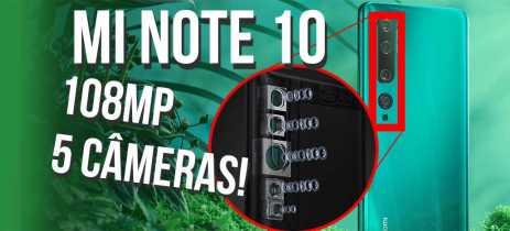 XIAOMI MI NOTE 10 tem sensor de 108 MEGAPIXELS e CINCO CÂMERAS