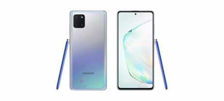 Fotos do Galaxy Note10 Lite mostram mais do aparelho