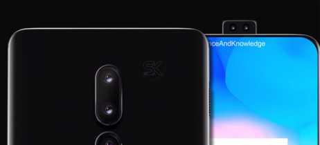 Imagens conceituais do OnePlus 6T imaginam o smartphone com câmera retrátil e sem notch na tela