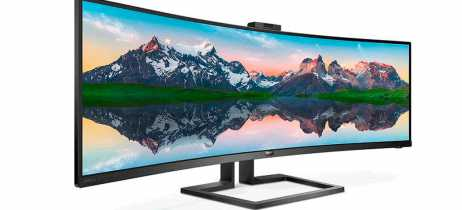 Philips anuncia monitor ultrawide de 49 polegadas SuperWide 499P9 Dual Quad HD e VA