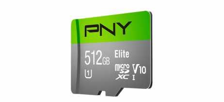 PNY anuncia cartão de memória microSDXC Elite com 512GB