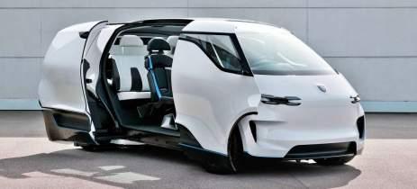 Kombi do futuro: veja o visual ousado da van elétrica revelada pela Porsche