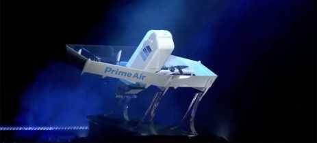 Amazon apresenta o drone de entrega Prime Air, que consegue voar até 24 km em 30 minutos