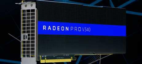Radeon Pro V340 é uma placa de vídeo profissional da AMD com duas GPUs Vega