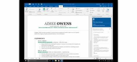 Microsoft lança ferramenta de criação de currículos no Office 365