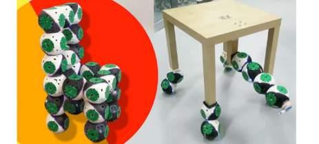 Robôs modulares 'Roombots' podem se juntar e virar mobília de maneira autônoma