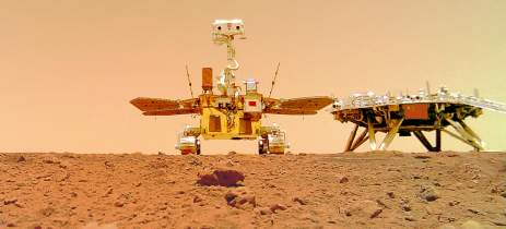 Rover chinês Zhurong mandou algumas selfies suas de Marte