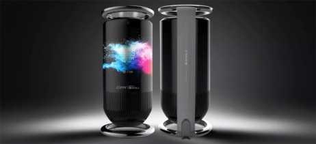 Royole apresenta alto-falante inteligente com display que envolve o gadget