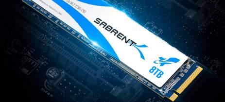 Sabrent revela o maior SSD M.2 do mundo, com 8TB e velocidades de até 3.400MB/s