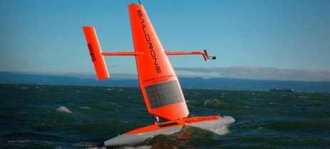 Drone marítimo da Saildrone é movido a energia solar e ajuda a estudar oceanos