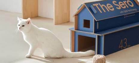 Embalagem da nova TV Samsung The Sero pode se transformar em casinha para pets