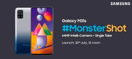 Samsung vai anunciar Galaxy M31s em 30 de julho