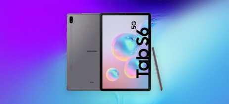Galaxy Tab S6 5G aparece em página oficial da Samsung, indicando sua chegada em breve
