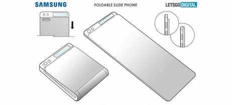 Samsung registra patente do design de smartphone dobrável apenas no meio