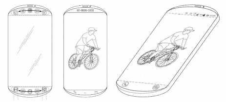 Nova patente da Samsung mostra celular com bordas superior e inferior redondas