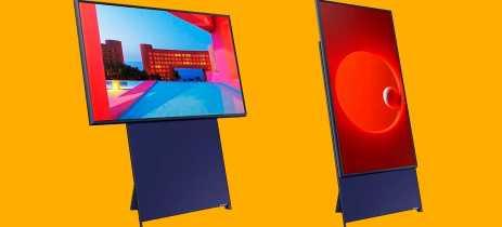 Samsung apresenta TV vertical Sero e revela que produto chega em 2020
