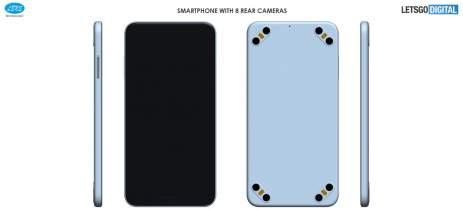 Chinesa Lens Technology registra patente de smartphone com oito câmeras traseiras