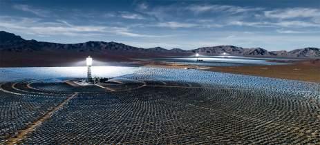 Mega usina solar usa 170 mil espelhos para gerar eletricidade no sul da Califórnia